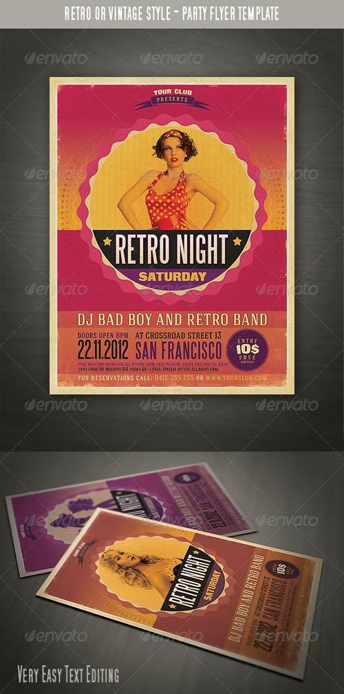 GraphicRiver Retro Style Party Flyer