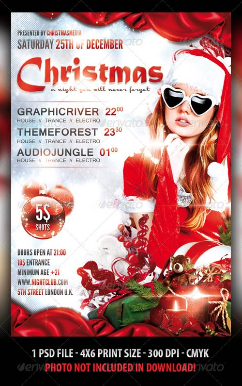 GraphicRiver Christmas Party Flyer Template