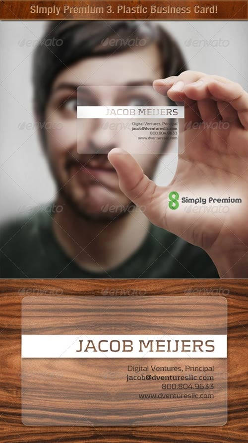 GraphicRiver Prepped-4-Print: Translucent Plastic Business Card