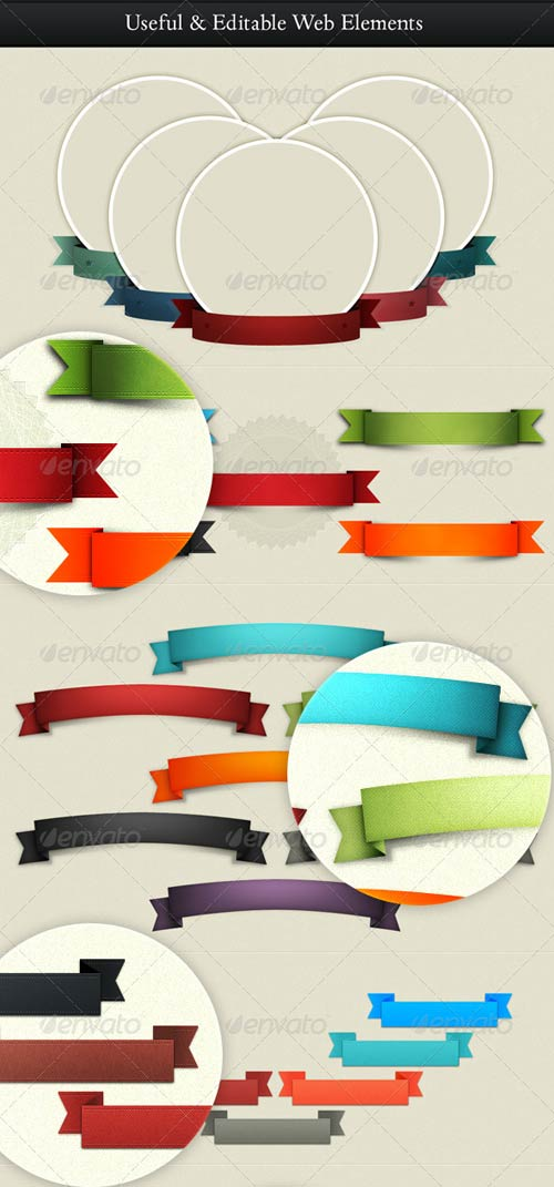 GraphicRiver Useful Web Elements - Stripes, Labels