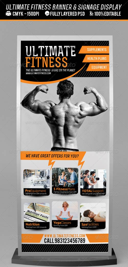 GraphicRiver Fitness Centre or Product Banner PSD Template