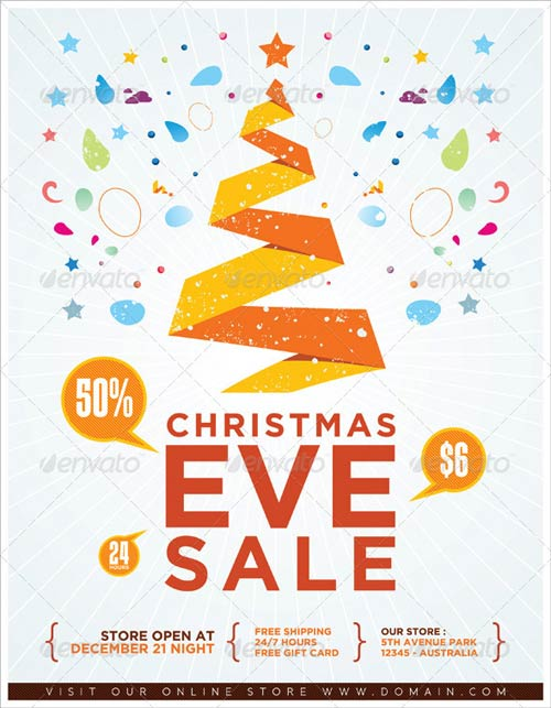 GraphicRiver Christmas Eve Sale Flyer