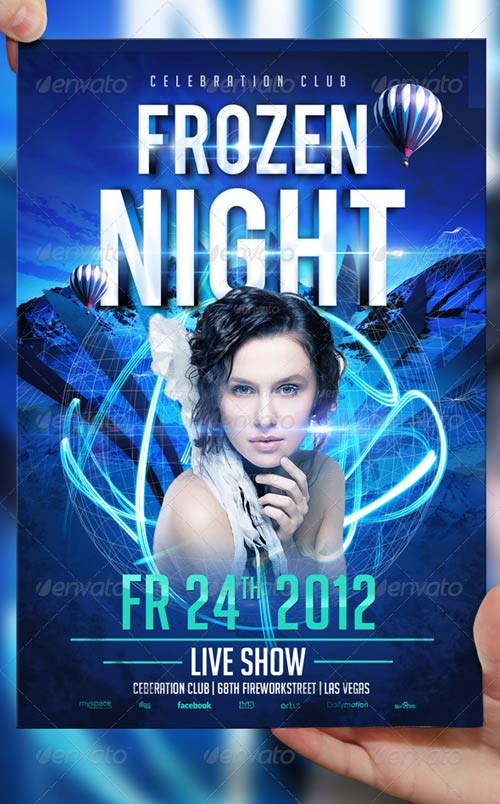 GraphicRiver Frozen Night Flyer Template