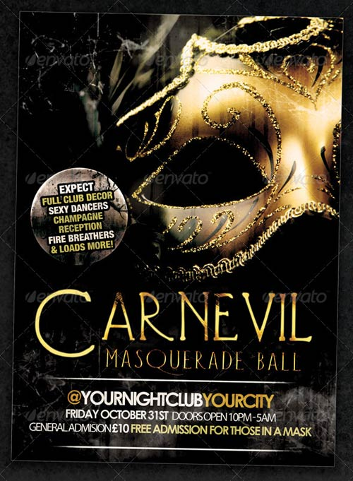 GraphicRiver Carnevil Masquerade Ball Flyer Or Event Poster