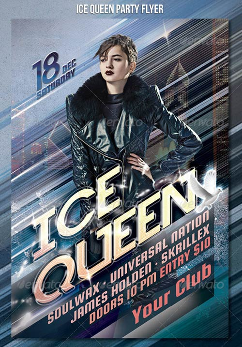 GraphicRiver Ice Queen Party Flyer