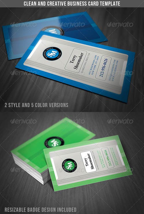 GraphicRiver Clean & Creative Business Card