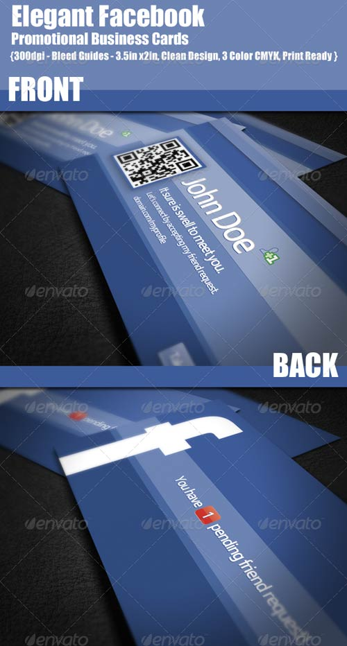 GraphicRiver Facebook Promotional Business Cards