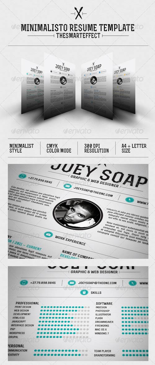 GraphicRiver Minimalisto Resume Template
