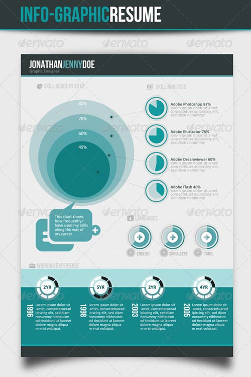GraphicRiver Info-graphic Resume V-II