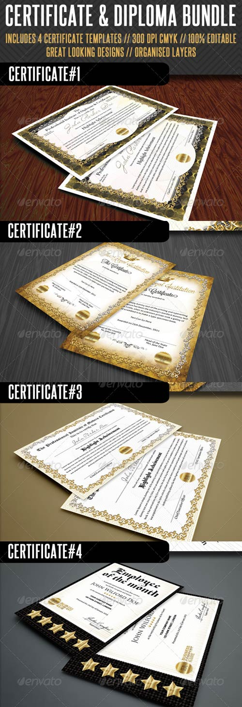 GraphicRiver Premium Certificate Bundle