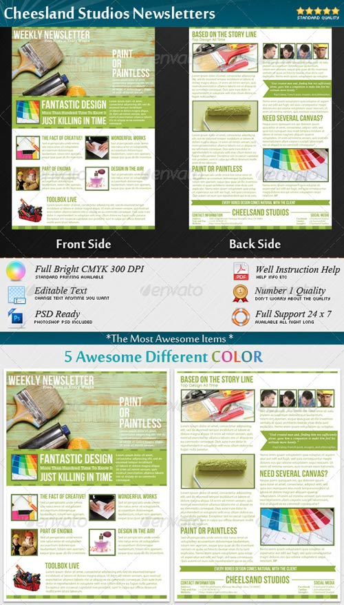 GraphicRiver Cheesland Studios Newsletters