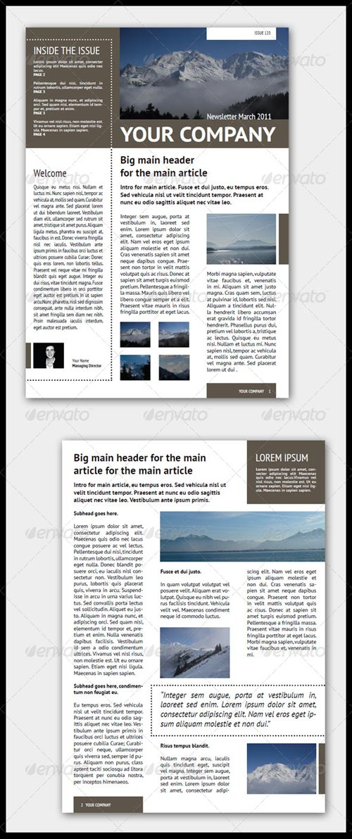GraphicRiver Newsletter Template (4 Pages – Adjustable)