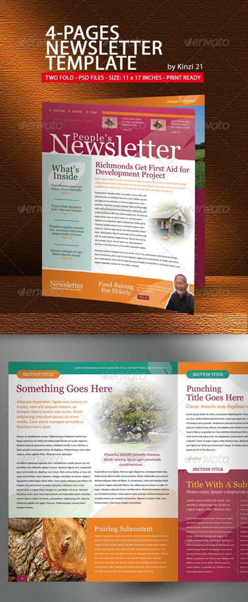 GraphicRiver 4-Pages Newsletter Template