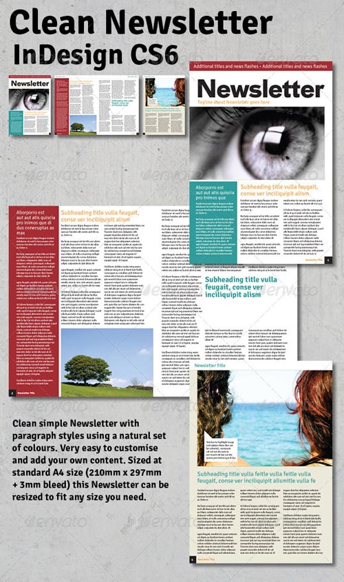 GraphicRiver Clean Newsletter - InDesign