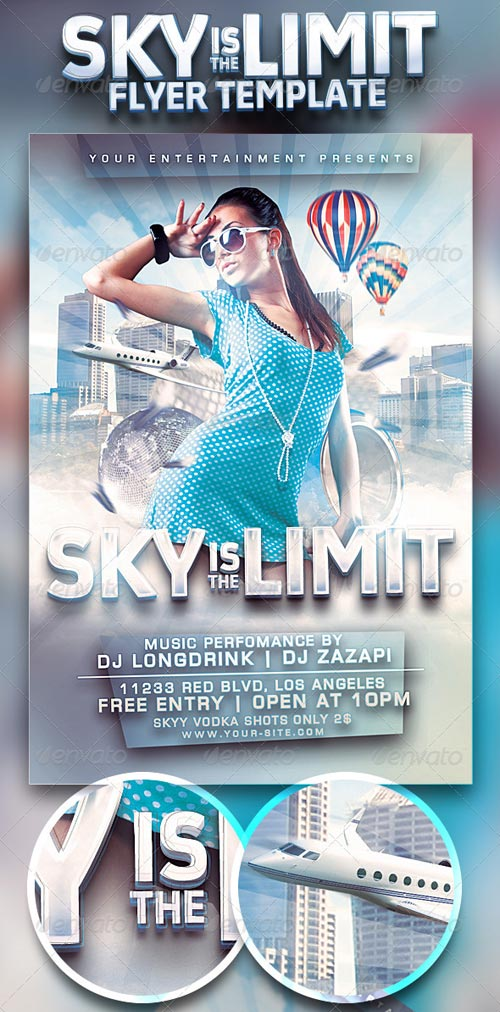 GraphicRiver Sky Is The Limit Club Flyer