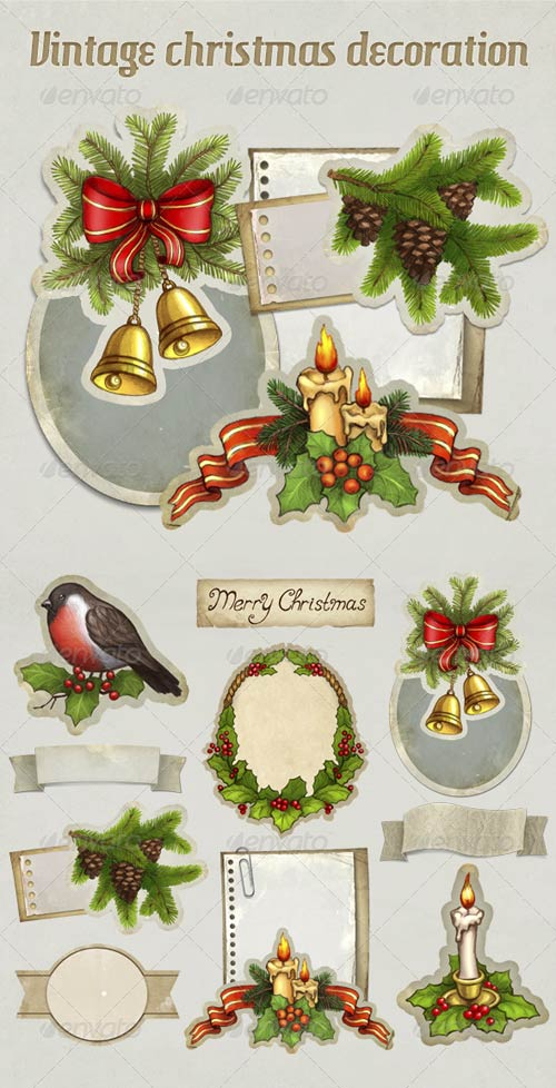 GraphicRiver Vintage Christmas Decoration