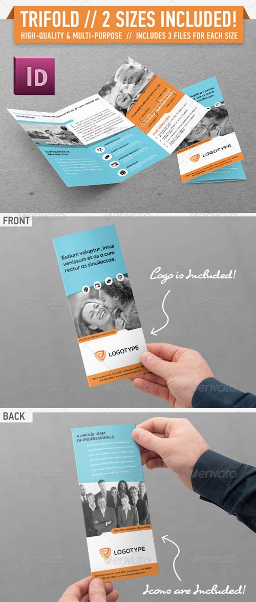 GraphicRiver Clean Modern Trifold Brochure - Vol. 2