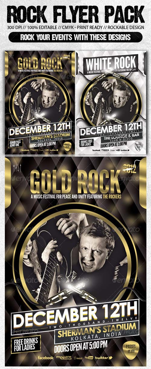 GraphicRiver Rock Music Show Flyer Bundle Pack#2