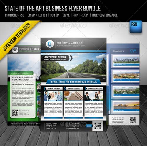 GraphicRiver State of the Art Business Flyer Bundle