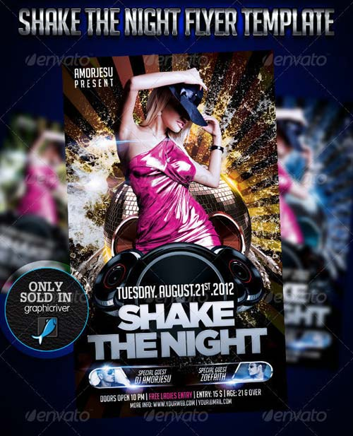 GraphicRiver Shake The Night Flyer Template