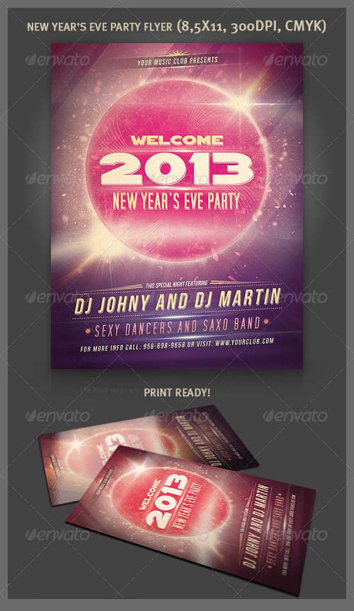 GraphicRiver New Year Party Flyer