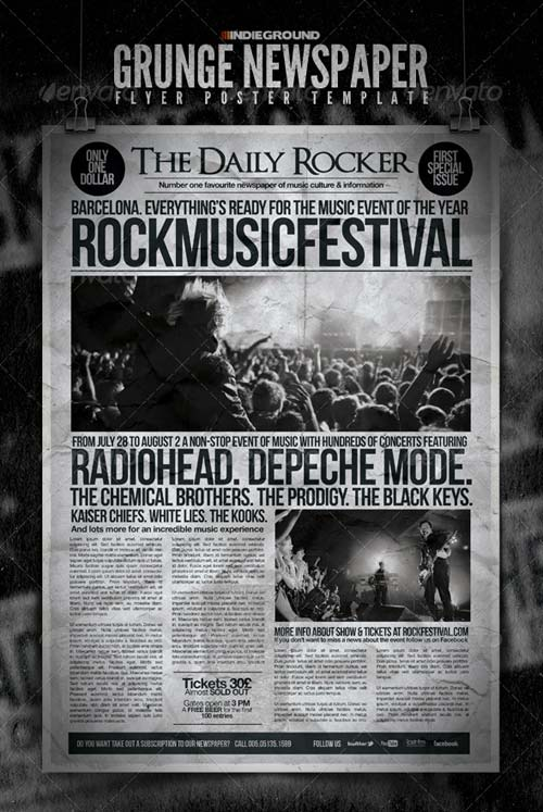 GraphicRiver Grunge Newspaper Flyer/Poster