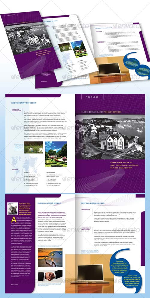 GraphicRiver 4 Page Corporate Brochure A4