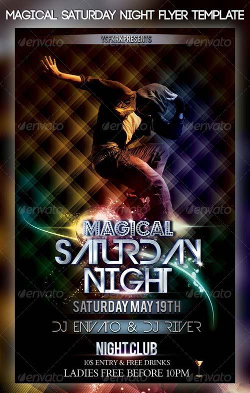 GraphicRiver Magical Saturday Night Flyer Template