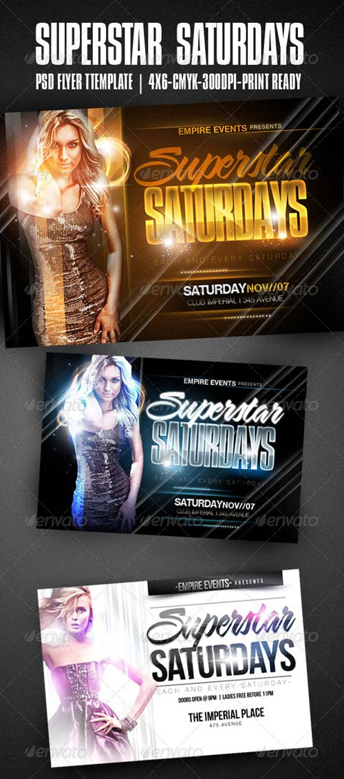 GraphicRiver Superstar Saturdays Party Flyer