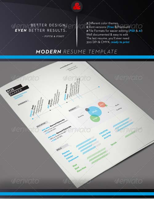 GraphicRiver Modern Resume Template