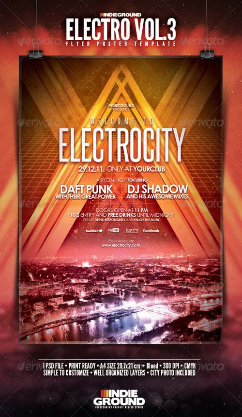 GraphicRiver Electro Flyer/Poster Vol. 3