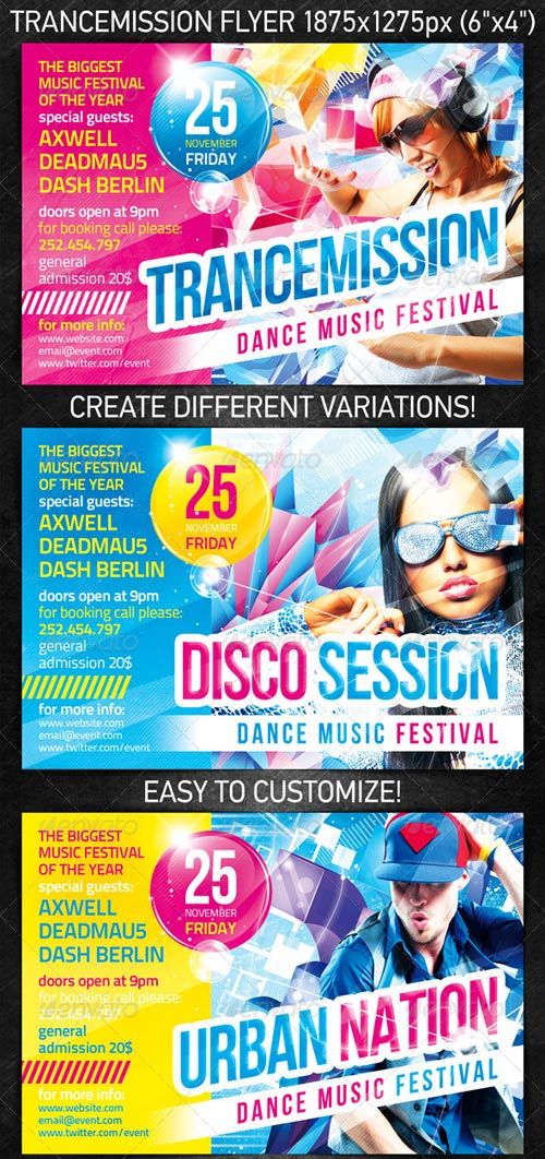 GraphicRiver Trancemission Party Flyer