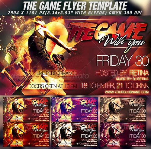 GraphicRiver The Game Flyer Template