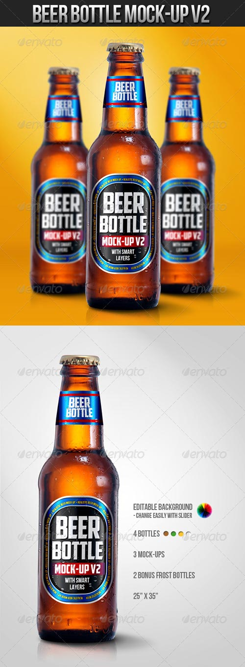 GraphicRiver Beer Bottle Mock-Up V2
