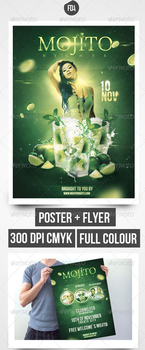 GraphicRiver Mojito Nights Front + Back