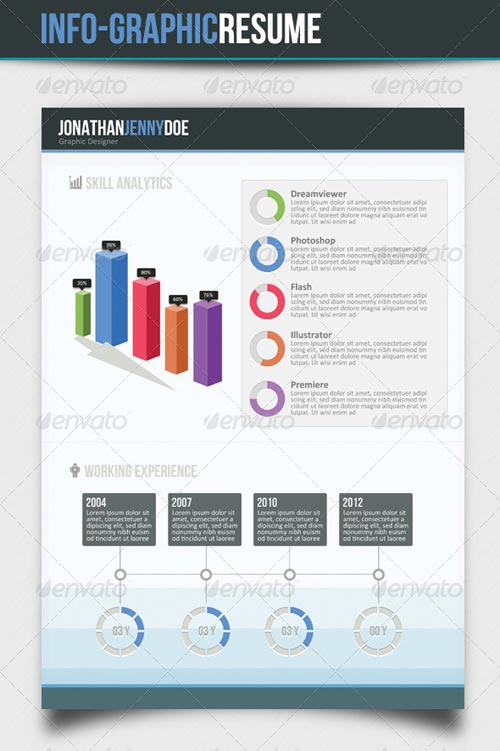 GraphicRiver Infographic 3Page Resume