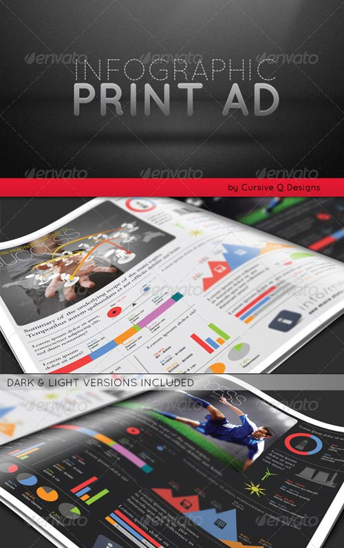 GraphicRiver Infographic Print Ad Template