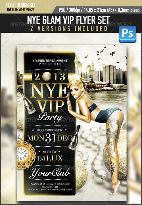 GraphicRiver New Years Eve Glam VIP Party