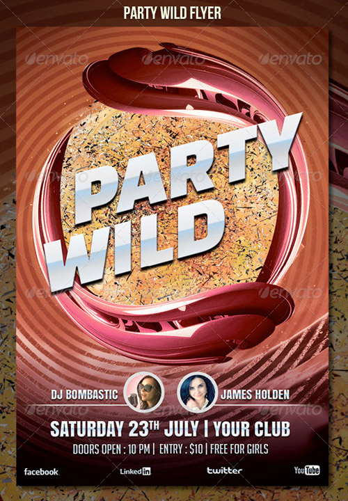 GraphicRiver Party Wild Flyer