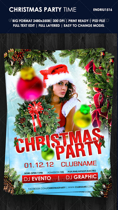 GraphicRiver Christmas Party Time Flyer Template