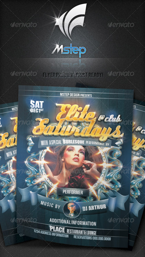 GraphicRiver Elite Saturdays Flyer
