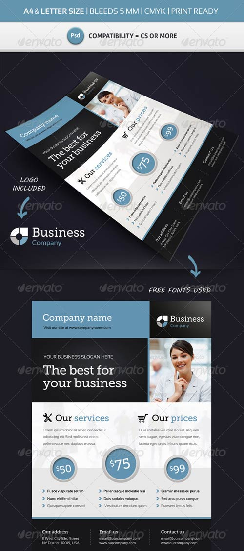 GraphicRiver Corporate Commerce Flyer Template A4 & Letter