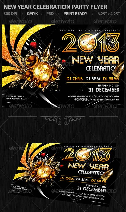 GraphicRiver New Year Celebration Party Flyer