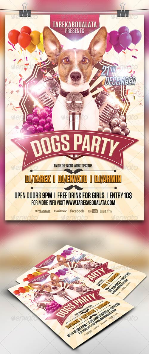 GraphicRiver Dogs Party Flyer