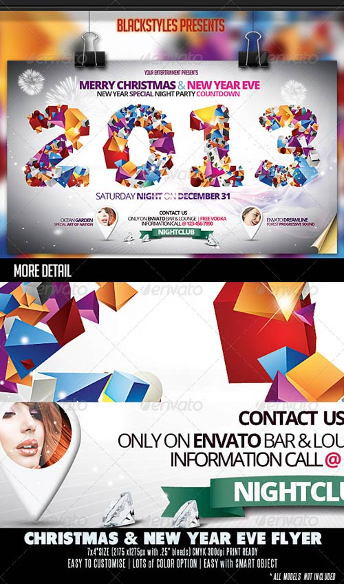GraphicRiver Christmas & New Year Eve Flyer