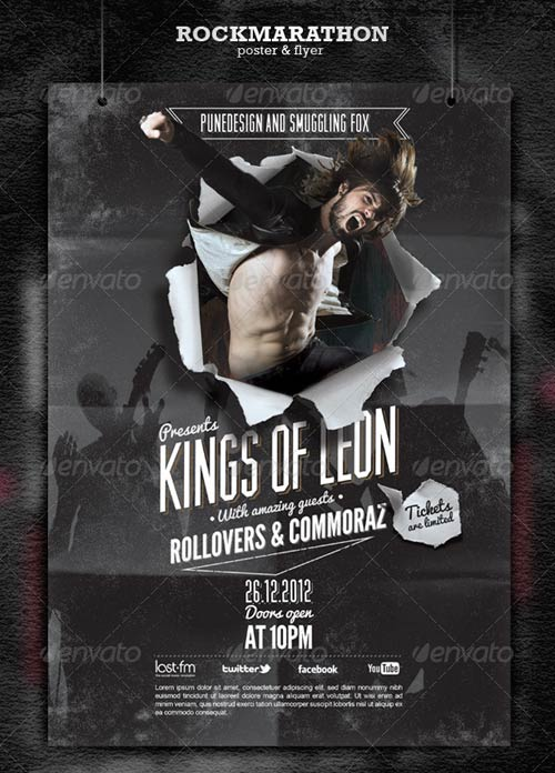 GraphicRiver Rock Poster & Flyer