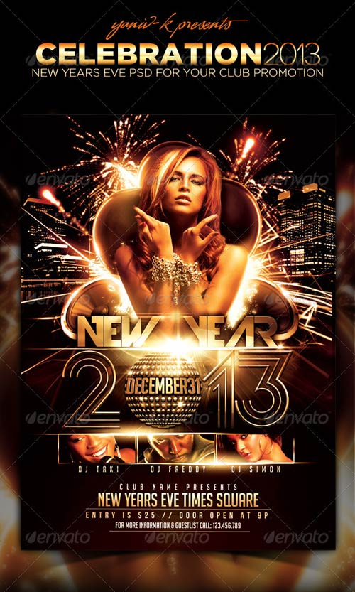 GraphicRiver Celebration Flyer Template