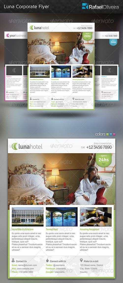 GraphicRiver Luna Corporate Flyer