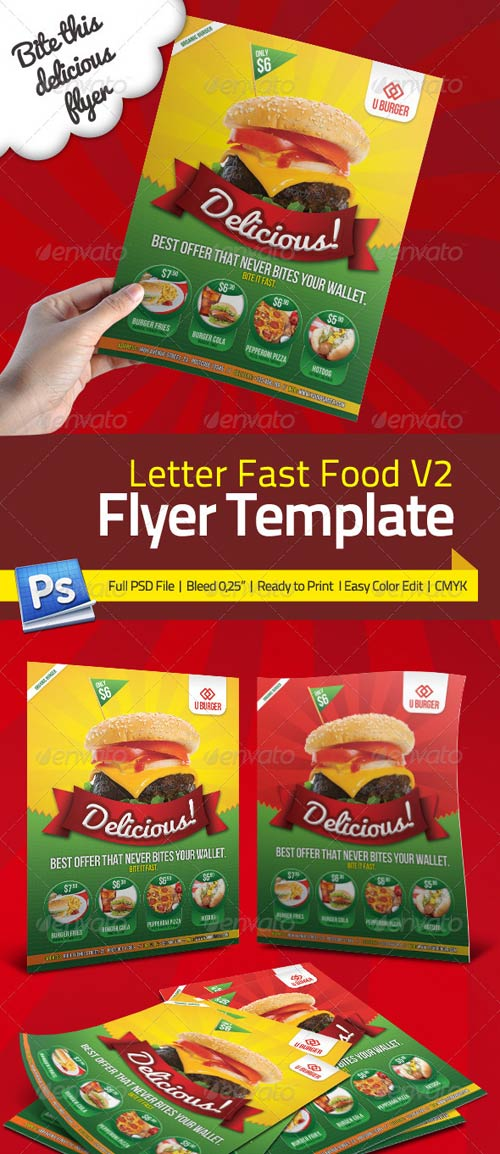 GraphicRiver Fast Food Flyer V2