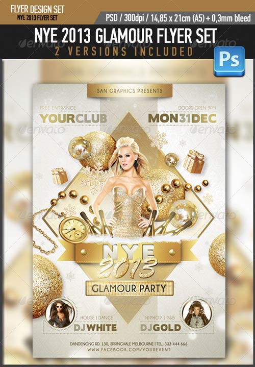 GraphicRiver NYE 2013 Glamour Flyer